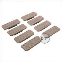 "Begadi M-LOK Rail Cover Set ""Type 5"", flach, 8 Stück  -TAN-"