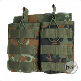 "BEGADI Basic Magazintasche ""G36 - double"" - flecktarn"