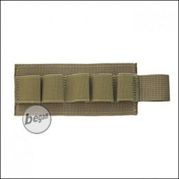 BEGADI Basic Shotgun / CO2 Patch, mit Klett - TAN