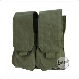 "BEGADI Basic Magazintasche ""M4 Double, geschlossen"" - olive"