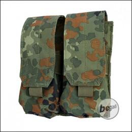 """BEGADI Basic Magazintasche """"M4 Double, geschlossen"""" - flecktarn"""