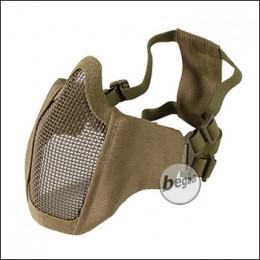 """Begadi """"FLEX"""" Gesichtsschutz Maske mit 2-Punkt Kopfband - TAN"""