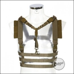 Begadi Basic Chest Rig mit QD Sling -TAN-