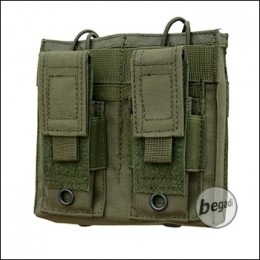 """Begadi Basic Mag Pouch / Magazintasche """"5.56mm / M4 Double + 9mm Pistol"""" - olive"""