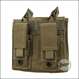 """Begadi Basic Mag Pouch / Magazintasche """"5.56mm / M4 Double + 9mm Pistol"""" - TAN"""