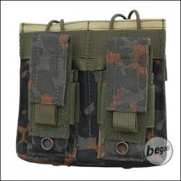 "Begadi Basic Mag Pouch / Magazintasche ""5.56mm / M4 Double + 9mm Pistol"" - flecktarn"