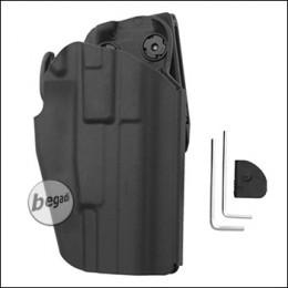 Begadi Basic Universal Hartschalen- Holster, voll verstellbar, für kleinere Pistolen -schwarz-