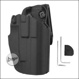 Begadi Basic Universal Hartschalen- Holster, voll verstellbar, für größere Pistolen -schwarz- (rechts)