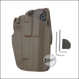 Begadi Basic Universal Hartschalen- Holster, voll verstellbar, für kleinere Pistolen -TAN-