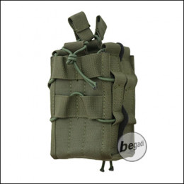 """BEGADI Basic Double Mag Pouch / Doppelmagazintasche """"Stack"""", olive"""