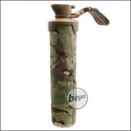 """BEGADI BB Flasche """"Soft"""", geräuscharm, mit Gürtel- / Molle Montage (für bis zu 3000 BBs) -multiterrain-"""