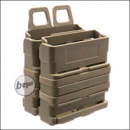 BEGADI Basic Hardshell Magazintaschen / Mag Pouch Bundle 7.62mm [SR25, M14, MK17 etc.] -TAN-