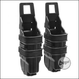 BEGADI Basic Hardshell Magazintaschen / Mag Pouch Bundle für Pistolen (Double Stack) -schwarz-