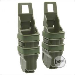 BEGADI Basic Hardshell Magazintaschen / Mag Pouch Bundle für Pistolen (Double Stack) -olive-