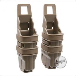 BEGADI Basic Hardshell Magazintaschen / Mag Pouch Bundle für Pistolen (Double Stack) -TAN-