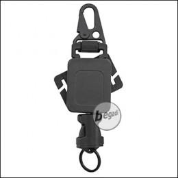BEGADI Multi Lanyard, mit automatischem Rückzug, 43cm lang -schwarz-