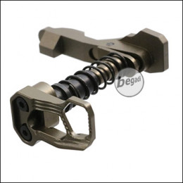 Kublai M4 / AR15 Lightweight Ambidex Skeleton Magcatch -metallic TAN-