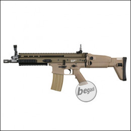 "WE MK16 Mod 0 10,5"" Upgrade Edition S-AEG mit Begadi CORE EFCS / Mosfet, TAN (frei ab 18 J.)"