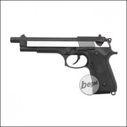 WE M9 L GBB, XL Version -schwarz / silber- (frei ab 18 J.)