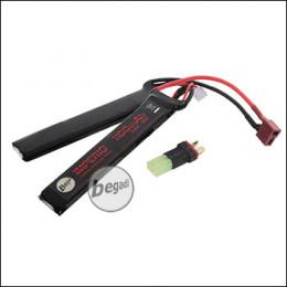 "Begadi ""IMPERIO"" LiPo Akku 7,4V 1100mAh 25C Double Stick mit Dean & Adapter auf Mini TAM"