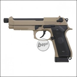 KJW M9 A1 GBB, TAN, CO2 Version, mit 14mm Gewinde (frei ab 18 J.)