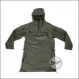 "BE-X Softshell Anorak ""Forest Walker"", lautlos und wasserdicht, olive"