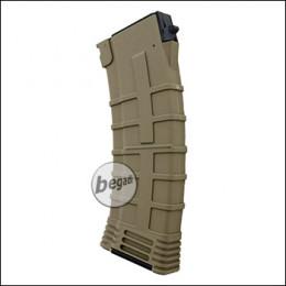 Begadi AK 74 Reinforced Polymer Midcap Magazin (130 BBs) -TAN-