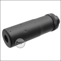 Begadi Sport Alu Mini Schalldämpfer / Silencer mit 14mm CCW Gewinde (112 x 35mm)