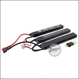 """Begadi """"AMAX"""" LiPo Akku 11,1V 2400mAh 20C Triple Stick mit Dean & Adapter auf Mini TAM"""