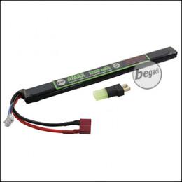"""Begadi """"AMAX"""" LiPo Akku 7,4V 1200mAh 25C -long- Single Stick mit Dean & Adapter auf Mini TAM"""