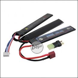 """Begadi """"AMAX"""" LiPo Akku 11,1V 1300mAh 30C Triple Stick mit Dean & Adapter auf Mini TAM -blau-"""