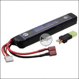 """Begadi """"AMAX"""" LiFePo Akku 9,9V 1100mAh 20C """"Single Stick"""" mit Dean & Adapter auf Mini TAM -lila-"""