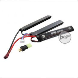 """Begadi """"AMAX"""" LiPo Akku 11,1V 2150mAh 25C Triple Stick mit Dean & Adapter auf Mini TAM -silber-"""