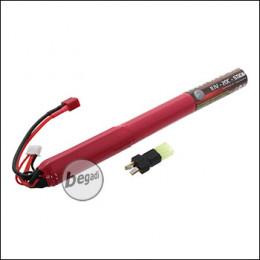 """Begadi Li-Ion Akku 11,1V 1600mAh 20C """"Single Stick"""" mit Dean & Adapter auf Mini TAM"""
