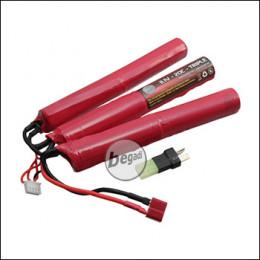 """Begadi Li-Ion Akku 11,1V 3500mAh 20C """"Triple Stick"""" mit Dean & Adapter auf Mini TAM"""