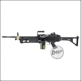 A&K M249 MK1 Upgrade LMG AEG, Stahlblech Version -schwarz- < 0,5 J.