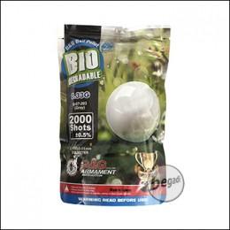 2.000 G&G Bio Precision BBs 6mm 0,33g -hellgrau- im Beutel