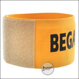 BEGADI Team Armband / Patch -gelb-, 1 Stück, elastisch - mit Klettfläche für Patches