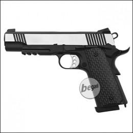 Army Armament M1911 / R28 GBB -Silver Slide- (frei ab 18 J.)