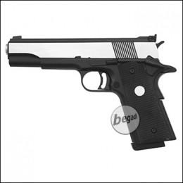 Army Armament M1911 / R29 GBB -Silver Slide- (frei ab 18 J.)