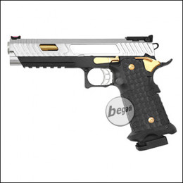 Army Armament R601 HiCapa GBB -Chrom / Gold Edition- (frei ab 18 J.)