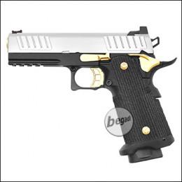 Army Armament R603 HiCapa GBB -Chrom / Gold Edition- (frei ab 18 J.)
