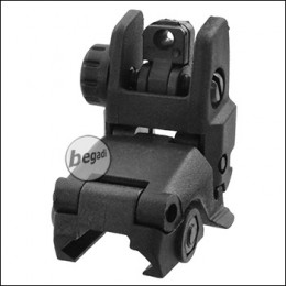 E&C Tactical Nylon FlipUp Rear Sight, schwarz