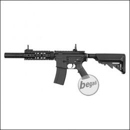 E&C M4 SOPMOD SD V3 (EFCS, Mosfet, short stroked, ambidex, Speed Trigger) AEG mit Metallgearbox & Burst Modus -schwarz- < 0,5 J.