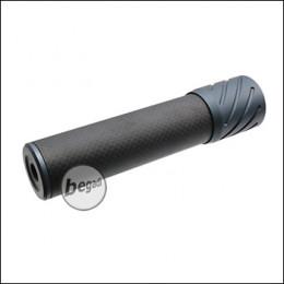 Begadi DSL2 Carbon Optik Silencer, mit AK (24mm) Gewinde, 150mm Version -titan-