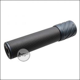 Begadi DSL2 Carbon Optik Silencer, mit 14mm CCW Gewinde, 150mm Version -titan-