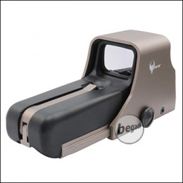 PHX 552 Style Red Dot Sight (rot & grün - 10 Stufen) - TAN metallic