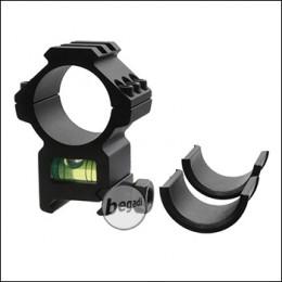Begadi 25.4mm / 30mm Level Montagering mit Wasserwaage & Rail (Style 1)