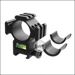 Begadi 25.4mm / 30mm Level Montagering mit Wasserwaage & 3 Rails (Style 2)
