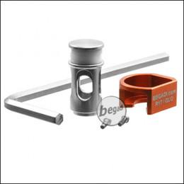 Begadi NPAS für (Army Armament, KJW, WE) G-Serie GBBs (CNC, Edelstahl) -orange-